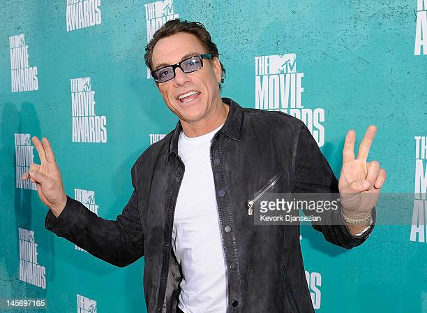 Actor JeanClaude Van Damme arrives at the 2012 MTV Movie Awards at Gibson Amphitheatre on June 3 2012 in Universal City California