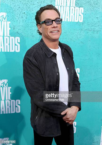 Actor JeanClaude Van Damme arrives at the 2012 MTV Movie Awards held at Gibson Amphitheatre on June 3 2012 in Universal City California