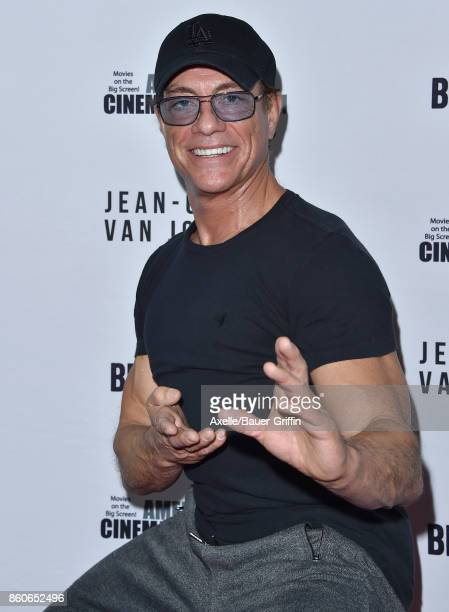 Actor JeanClaude Van Damme arrives at the Beyond Fest screening of Amazon's 'JeanClaude Van Johnson' at The Egyptian Theatre on October 9 2017 in Los...