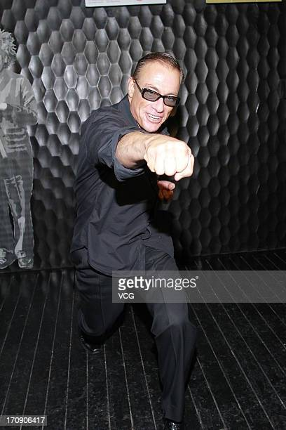 Actor JeanClaude Van Damme attends a press conference to promote his new film at the Centrium on June 19 2013 in Hong Kong Hong Kong