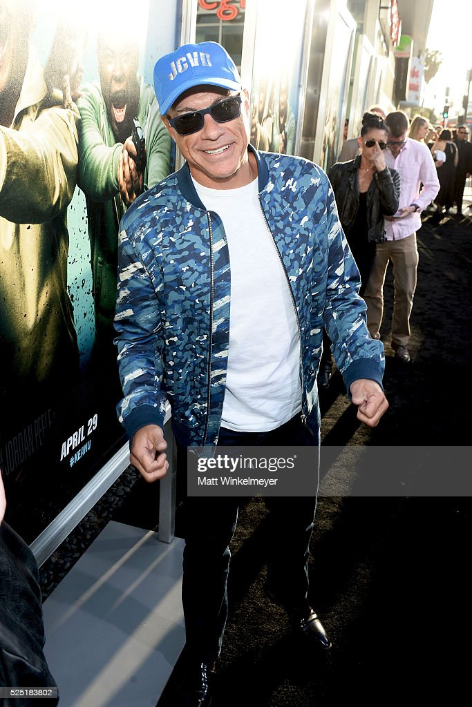 Actor <a gi-track='captionPersonalityLinkClicked' href=/galleries/search?phrase=Jean-Claude+Van+Damme&family=editorial&specificpeople=566465 ng-click='$event.stopPropagation()'>Jean-Claude Van Damme</a> attends a special presentation of Warner Bros.' 'Keanu' at ArcLight Cinemas Cinerama Dome on April 27, 2016 in Hollywood, California.