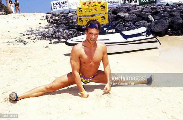 Actor JeanClaude Van Damme attends The RitzCarlton Mauna Lani Celebrity Sports Invitational on May 16 1991 at The RitzCarlton Mauna Lani in Kohala...