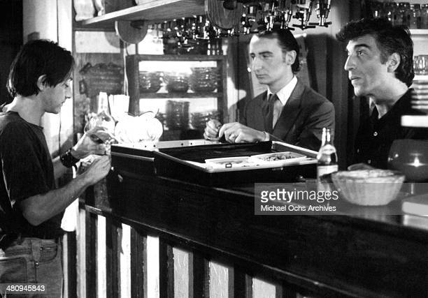 Actor JeanHugues Anglade and Gerard Darmon in a scene from the movie 'Betty Blue ' circa 1986