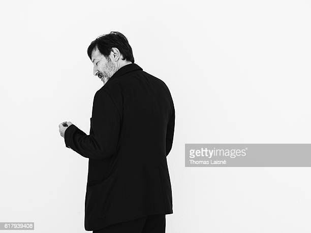 Actor JeanHugues Anglade is photographed for Self Assignment on May 20 2015 in Paris France