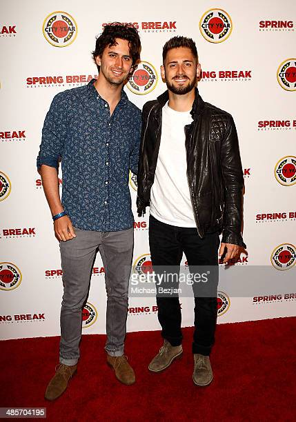 Actor JeanLuc Bilodeau and Andreas Sgourdos attend the City Year Los Angeles 'Spring Break' Fundraiser at Sony Studios on April 19 2014 in Los...