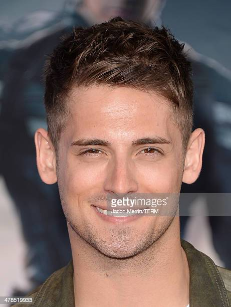 Actor JeanLuc Bilodeau arrives for the premiere of Marvel's 'Captain America The Winter Soldier' at the El Capitan Theatre on March 13 2014 in...