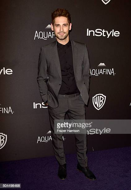 Actor JeanLuc Bilodeau attends InStyle and Warner Bros 73rd Annual Golden Globe Awards PostParty at The Beverly Hilton Hotel on January 10 2016 in...