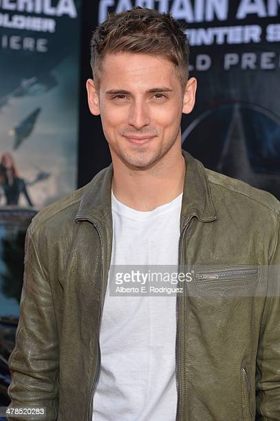 Actor JeanLuc Bilodeau attends Marvel's 'Captain America The Winter Soldier' premiere at the El Capitan Theatre on March 13 2014 in Hollywood...