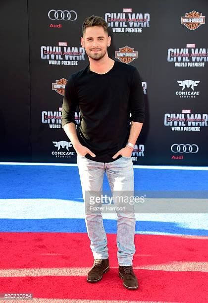 Actor JeanLuc Bilodeau attends the premiere of Marvel's 'Captain America Civil War' at Dolby Theatre on April 12 2016 in Los Angeles California