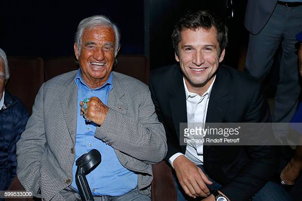 Actor JeanPaul Belmondo and actor of the movie Guillaume Canet attend the 'Cezanne et Moi' Premiere on September 5 2016 in Paris France