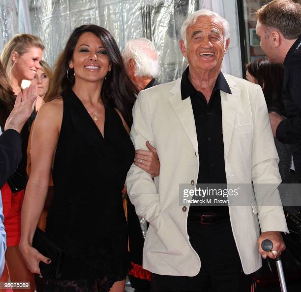 Actor JeanPaul Belmondo and Barbara Gandolfi attend the TCM Classic Film Festival screening of a 'A Star Is Born' at Grauman's Chinese Theater on...