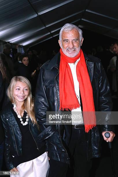 Actor JeanPaul Belmondo with his daughter Stella Belmondo attend 'Silvia' show from 'Cirque Alexis Gruss' Premiere Porte de Passy in Paris on October...