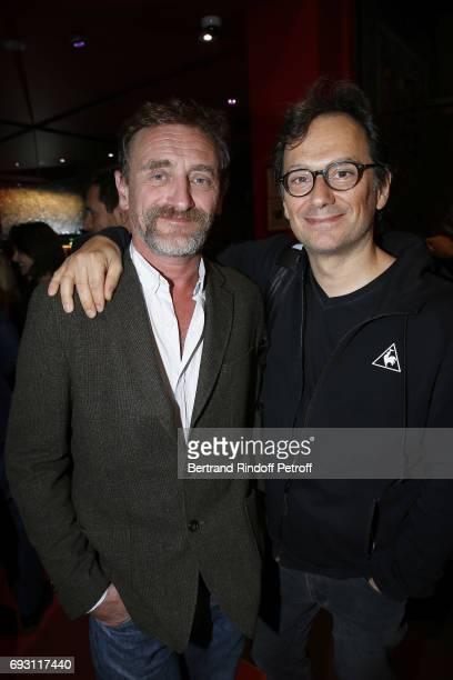 Actor JeanPaul Rouve and Director James Huth attend 'les Ex' Paris Premiere at Cinema Gaumont Capucine on June 6 2017 in Paris France
