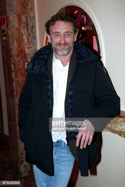 Actor JeanPaul Rouve attends 'Depardieu Chante Barbara' at 'Le Cirque D'Hiver' on November 11 2017 in Paris France