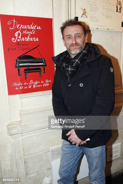 Actor JeanPaul Rouve attends 'Depardieu chante Barbara' at Theatre des Bouffes du Nord on February 11 2017 in Paris France