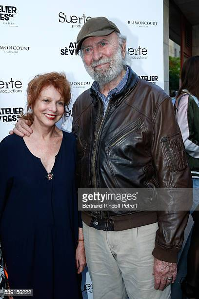 Actor JeanPierre Marielle and his wife Agathe Natanson attend the '55 Politiques' Exhibition of Stephanie Murat's Pictures Opening Party at Galerie...
