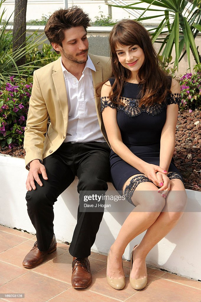 Actor Jean-Sebastien Courchesne and actress <a gi-track='captionPersonalityLinkClicked' href=/galleries/search?phrase=Sophie+Desmarais&family=editorial&specificpeople=7135191 ng-click='$event.stopPropagation()'>Sophie Desmarais</a> attend the 'Sarah Prefere La Course' Photocall during The 66th Annual Cannes Film Festival at the Palais des Festivals on May 21, 2013 in Cannes, France.