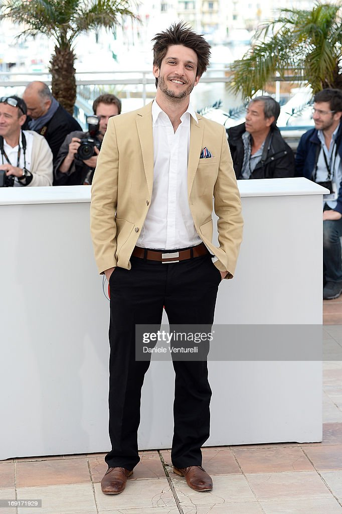 Actor Jean-Sebastien Courchesne attends the photocall for 'Sarah Prefere La Course' during The 66th Annual Cannes Film Festival at Palais des Festivals on May 21, 2013 in Cannes, France.