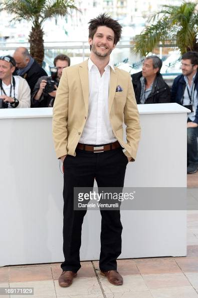 Actor JeanSebastien Courchesne attends the photocall for 'Sarah Prefere La Course' during The 66th Annual Cannes Film Festival at Palais des...