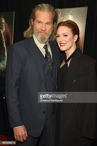 Actor Jeff Bridges and Actress Julianne Moore attend 'Seventh Son' special screening at Crosby Street Hotel on January 30 2015 in New York City