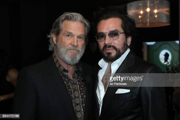 Actor Jeff Bridges and SBIFF Executive Director Roger Durling visit the Dom Perignon Lounge at The Santa Barbara International Film Festival on...