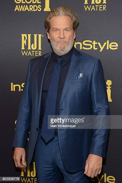 Actor Jeff Bridges arrives at the Hollywood Foreign Press Association and InStyle celebrate the 2017 Golden Globe Award Season at Catch LA on...