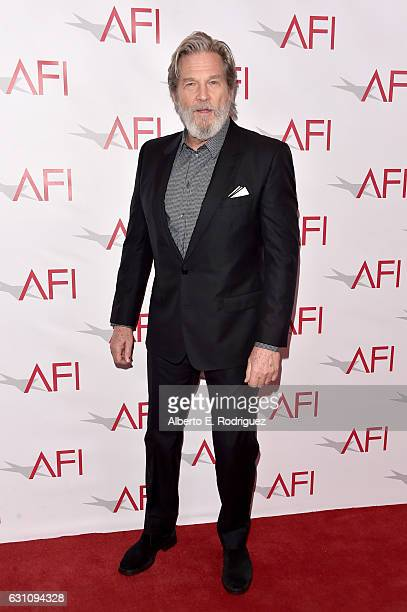 Actor Jeff Bridges attends the 17th annual AFI Awards at Four Seasons Los Angeles at Beverly Hills on January 6 2017 in Los Angeles California