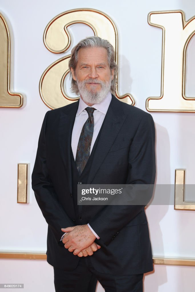 Actor Jeff Bridges attends the 'Kingsman: The Golden Circle' World Premiere held at Odeon Leicester Square on September 18, 2017 in London, England.
