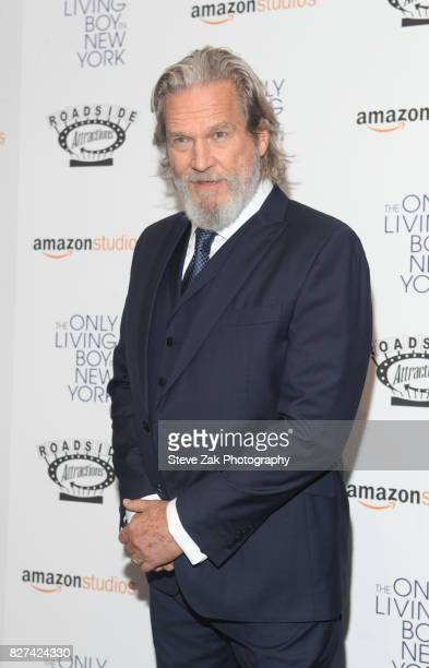 Actor Jeff Bridges attends 'The Only Living Boy In New York' New York premiere at The Museum of Modern Art on August 7 2017 in New York City