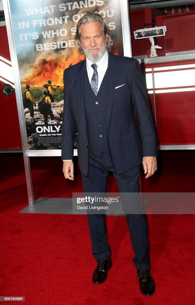 Actor Jeff Bridges attends the premiere of Columbia Pictures' 'Only the Brave' at Regency Village Theatre on October 8, 2017 in Westwood, California.