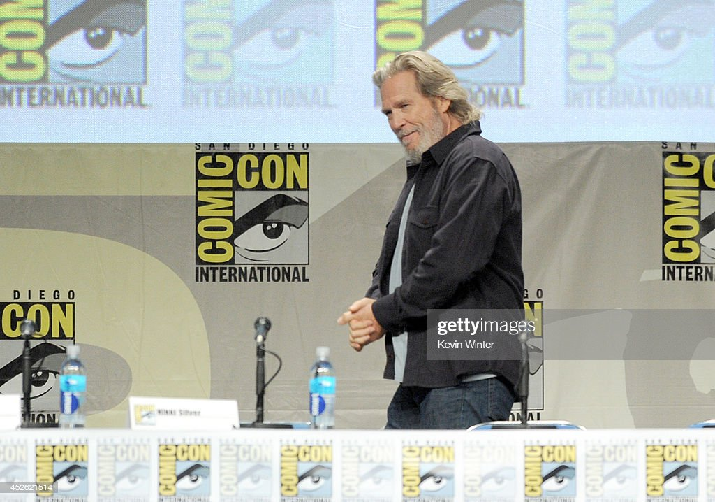 Actor Jeff Bridges attends the 'The Giver' presentation during ComicCon International 2014 at the San Diego Convention Center on July 24 2014 in San...