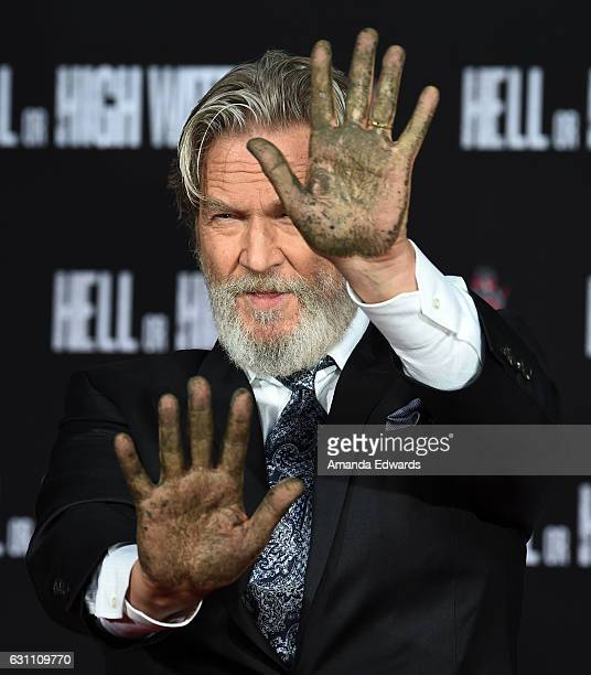Actor Jeff Bridges participates in his hand and footprint ceremony at the TCL Chinese 6 Theatres on January 6 2017 in Hollywood California