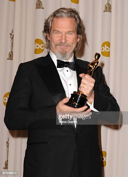 Actor Jeff Bridges poses in the press room at the 82nd Annual Academy Awards held at the Kodak Theatre on March 7 2010 in Hollywood California