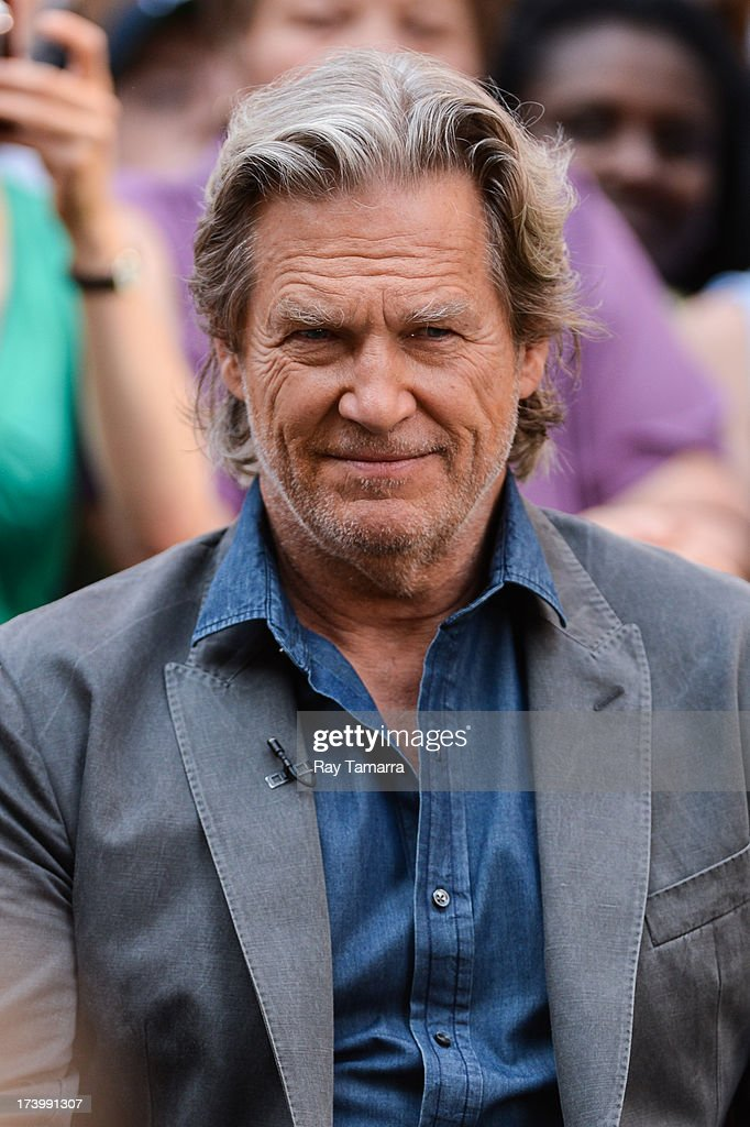 Actor Jeff Bridges tapes an interview at 'Good Morning America' at the ABC Times Square Studios on July 18, 2013 in New York City.