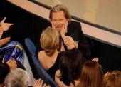 Actor Jeff Bridges winner of Best Actor award for 'Crazy Heart' and wife Susan Geston celebrate during the 82nd Annual Academy Awards held at Kodak...