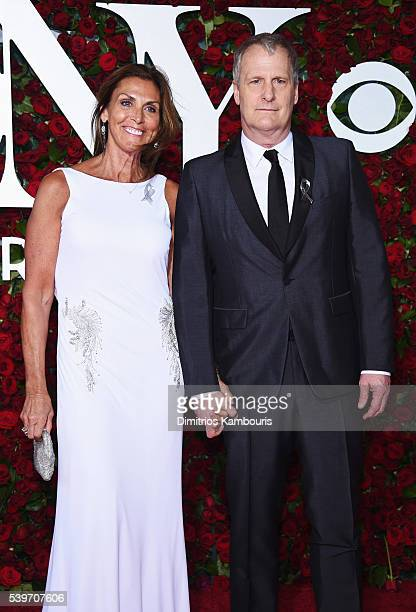 Actor Jeff Daniels and Kathleen Rosemary Treado attend 70th Annual Tony Awards Arrivals at Beacon Theatre on June 12 2016 in New York City