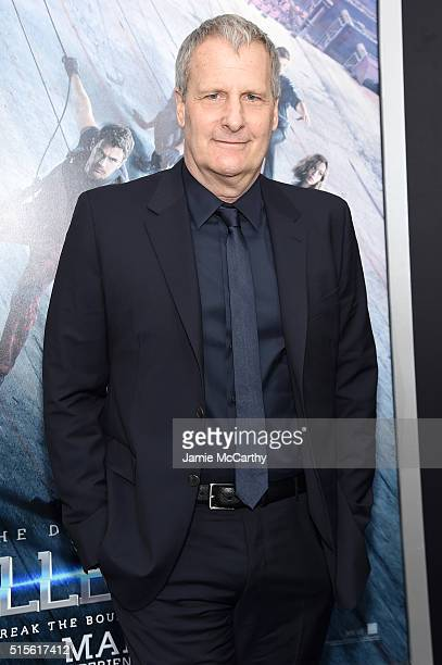 Actor Jeff Daniels attends the New York premiere of 'Allegiant' at the AMC Lincoln Square Theater on March 14 2016 in New York City