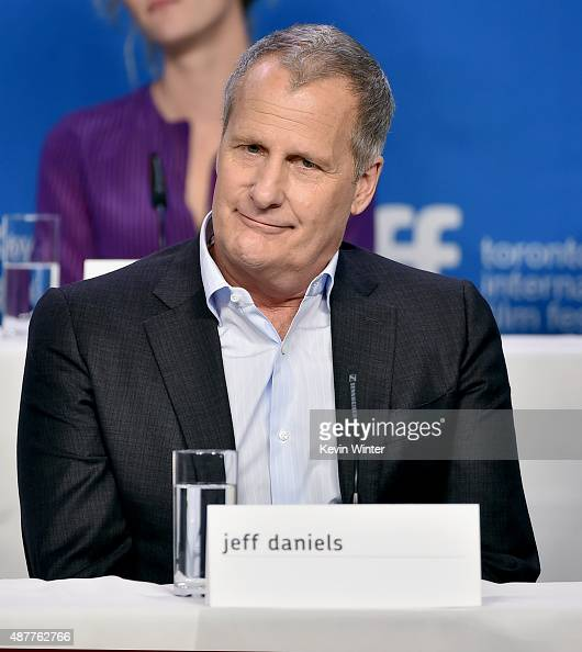 Actor Jeff Daniels speaks onstage during the 'The Martian' press conference at the 2015 Toronto International Film Festival at TIFF Bell Lightbox on...