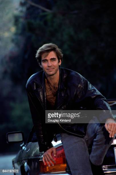 Actor Jeff Fahey Sitting on Car