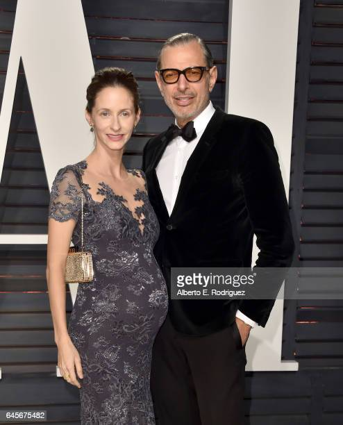 Actor Jeff Goldblum and Emilie Livingston attend the 2017 Vanity Fair Oscar Party hosted by Graydon Carter at Wallis Annenberg Center for the...