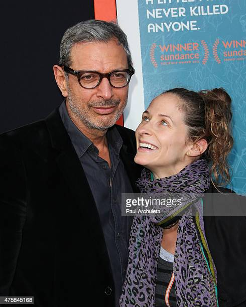 Actor Jeff Goldblum and his wife Emilie Livingston attend the 'Me And Earl And The Dying Girl' premiere at The Harmony Gold Theatre on June 3 2015 in...