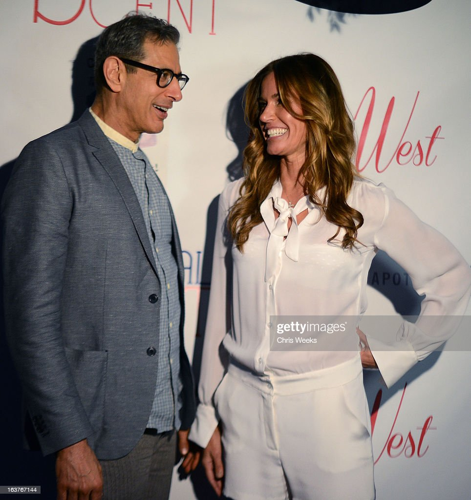 Actor Jeff Goldblum and reality television personality Kelly Bensimon attend the Original Scent launch at Nikki West Boutique on March 14, 2013 in Pasadena, California.