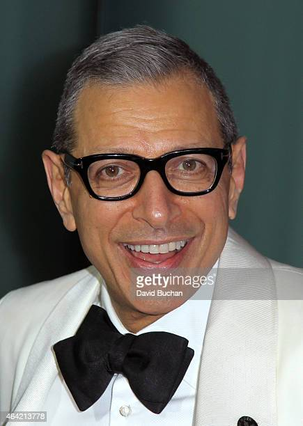 Actor Jeff Goldblum attends the 21st Century Fox and Fox Searchlight Oscar Party at BOA Steakhouse on February 22 2015 in West Hollywood California