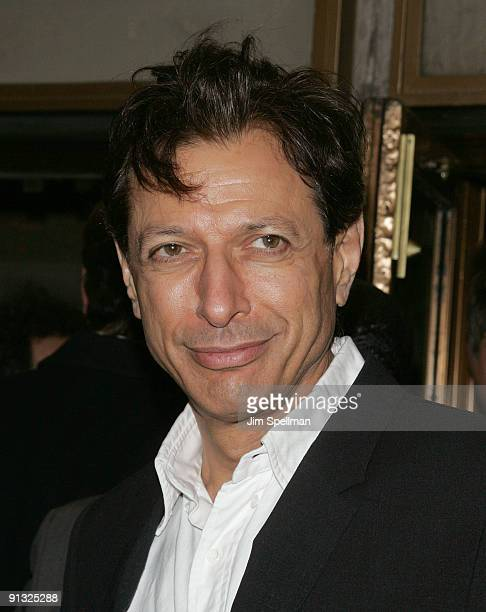 Actor Jeff Goldblum attends the opening night of 'Superior Donuts' on Broadway at the Music Box Theatre on October 1 2009 in New York City