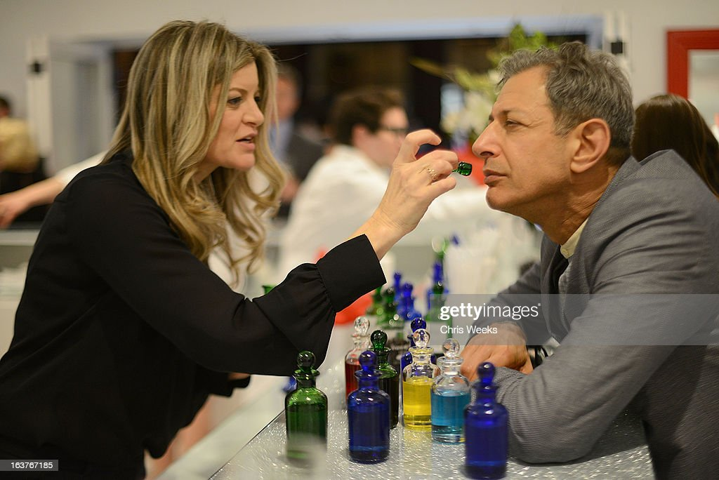 Actor <a gi-track='captionPersonalityLinkClicked' href=/galleries/search?phrase=Jeff+Goldblum&family=editorial&specificpeople=204160 ng-click='$event.stopPropagation()'>Jeff Goldblum</a> attends the Original Scent launch at Nikki West Boutique on March 14, 2013 in Pasadena, California.