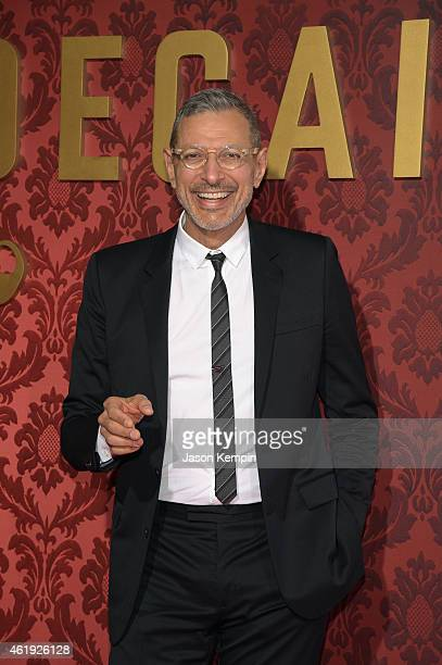 Actor Jeff Goldblum attends the premiere of Lionsgate's 'Mortdecai' at TCL Chinese Theatre on January 21 2015 in Hollywood California