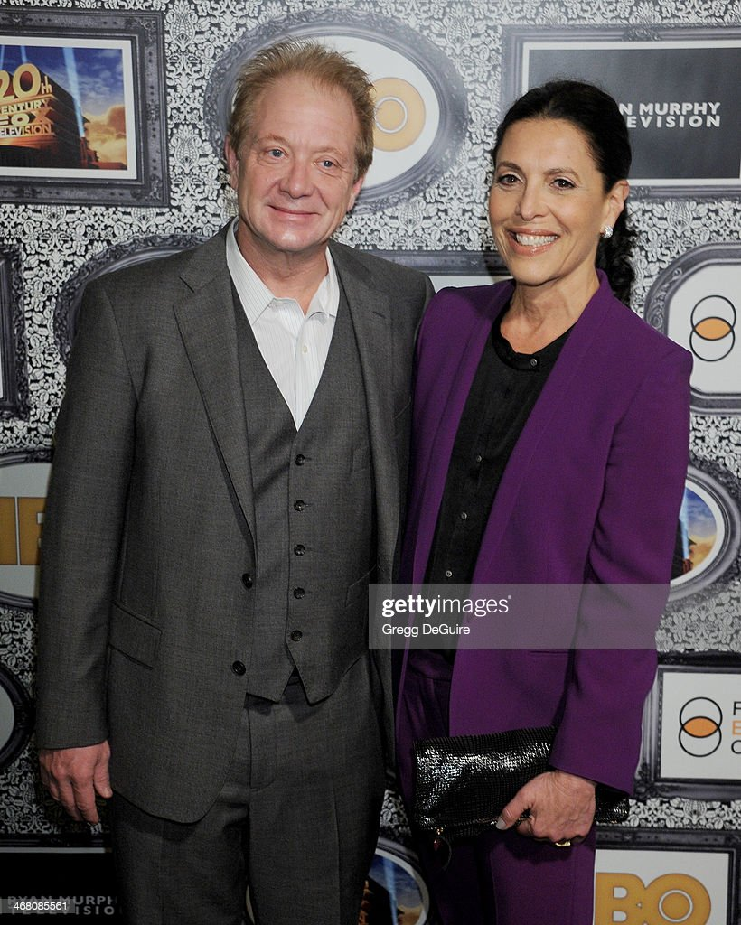 Actor Jeff Perry and wife Linda Lowy arrive at the Family Equality Council's Annual Los Angeles Awards Dinner at The Globe Theatre on February 8 2014...