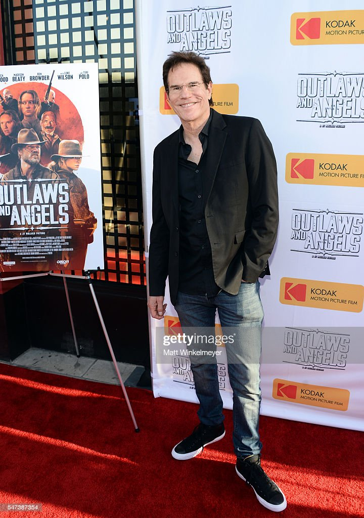 Actor Jeff Rice attends the premiere of Momentum Pictures' 'Outlaws And Angels' at Ahrya Fine Arts Movie Theater on July 12, 2016 in Beverly Hills, California.