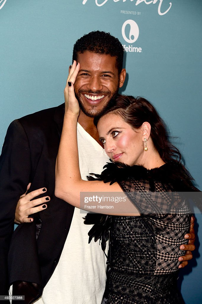 Actor Jeffrey Bowyer-Chapman and producer Sarah Gertrude Shapiro attend Variety's Power Of Women Luncheon at the Beverly Wilshire Four Seasons Hotel on October 9, 2015 in Beverly Hills, California.