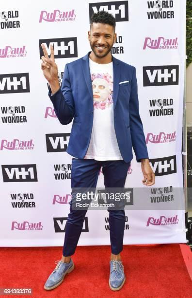 Actor Jeffrey BowyerChapman attends 'RuPaul's Drag Race' Season 9 Finale Taping at Alex Theatre on June 9 2017 in Glendale California